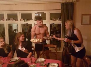 semi-naked waiter/waitress - uk & europe