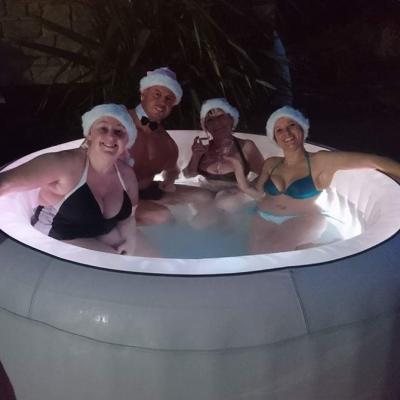 hot tub fun in falmouth