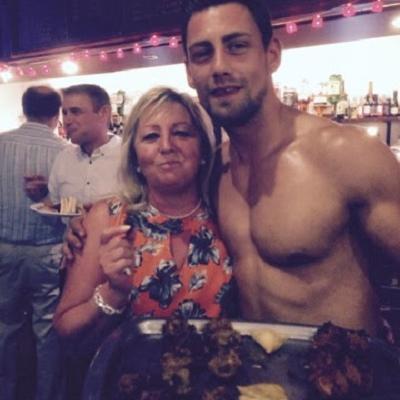 Hunky Topless Waiter
